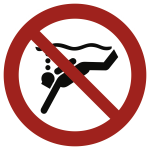 Geräte-Tauchen verboten ISO 20712-1, Alu, Ø 400 mm