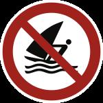 Windsurfen verboten ISO 20712-1, Alu, Ø 400 mm