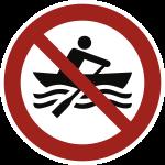 Muskelbetriebene Boote verboten ISO 20712-1, Alu, Ø 400 mm