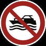 Maschinenbetriebene Boote verboten ISO 20712-1, Alu, Ø 400 mm