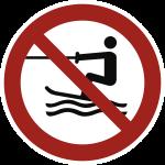 Wasserski-Aktivitäten verboten ISO 20712-1, Alu, Ø 400 mm