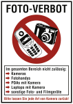 FOTO-VERBOT, Kombischild, Kunststoff, 210x297 mm