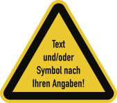 Warnzeichen - Text und/oder Symbol nach Ihren Angaben, Kunststoff, 100 mm SL