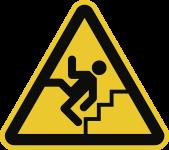 Warnung vor Treppe, Kunststoff, 200 mm SL