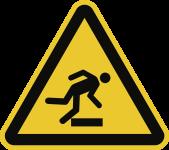 Warnung vor Hindernissen am Boden ISO 7010, Folie, 100 mm SL