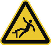 Warnung vor Absturzgefahr ISO 7010, Folie, 100 mm SL