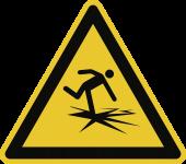 Warnung vor dünnem Eis ISO 20712-1, Alu, 400 mm SL
