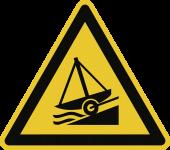 Warnung vor Slipanlage ISO 20712-1, Alu, 400 mm SL