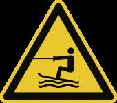Warnung vor Wasserski-Bereich ISO 20712-1, Alu, 400 mm SL