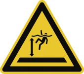 Warnung vor tiefem Wasser ISO 20712-1, Alu, 400 mm SL