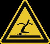 Warnung vor flachem Wasser (Kopfsprung) ISO 20712-1, Alu, 400 mm SL