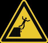 Warnung vor instabiler Klippenkante ISO 20712-1, Alu, 400 mm SL