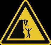 Warnung vor Steinschlag von instabiler Klippe ISO 20712-1, Alu, 400 mm SL