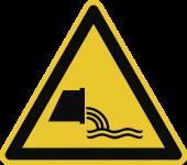Warnung vor Abwassereinleitung ISO 20712-1, Alu, 400 mm SL
