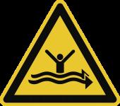 Warnung vor starker Strömung ISO 20712-1, Alu, 400 mm SL