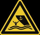 Warnung vor Schiffsverkehr ISO 20712-1, Alu, 400 mm SL