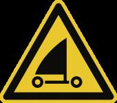 Warnung vor Strandseglern ISO 20712-1, Alu, 400 mm SL