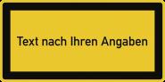 Laserkennzeichnung - Text nach Ihren Angaben, Folie, 105x52 mm