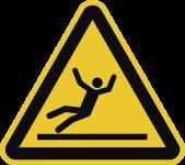 Warnung vor Rutschgefahr nach ISO 7010, Folie, 100 mm SL