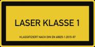 LASER KLASSE 1 DIN 60825-1, Textschild, Folie, 105x52 mm