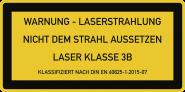 LASER KLASSE 3B DIN 60825-1, Textschild, Folie, 52x26 mm, 10 Stück/Bogen
