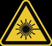 Warnung vor Laserstrahl ISO 7010, Alu, 100 mm SL