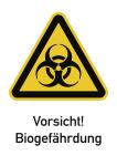 Vorsicht! Biogefährdung, Kombischild, Folie, 131x185 mm