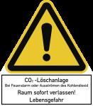 CO2-Löschanlage..., Kombischild, Folie, 210x240 mm