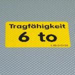 Aufkleber Gegossene PVC-Folie Grund gelb Druck max. 2-farbig Größe bis 80 cm²
