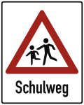 Kinder, Schulweg, Alu 3 mm, RA2, 1000x1250 mm