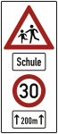 Kinder, Schule, 30km/h, Alu 3 mm, RA2, 730x1690 mm