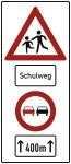 Kinder, Schulweg, Überholverbot, Alu 3 mm, RA2, 730x1690 mm