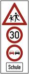 Kinder, 30km/h, Überholverbot, Schule, Alu 3 mm, RA2, 730x1880 mm