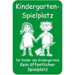 Kindergarten-Spielplatz ..., Alu, 60x40 cm