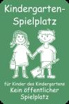 Kindergarten-Spielplatz ..., Alu, 400x600 mm