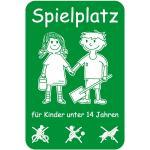Spielplatz für Kinder unter 14 Jahren, Alu, 60x40 cm
