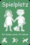Spielplatz für Kinder unter 14 Jahren, Alu, 400x600 mm
