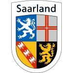 """Wappenzeichen """"Saarland"""", Alu, 30,6x20,6 cm"""