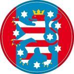 """Wappenzeichen """"Thüringen"""", Alu, Ø 30 cm"""