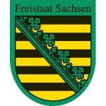 """Wappenzeichen """"Sachsen"""", Alu, 30x24,2 cm"""