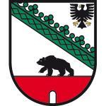"""Wappenzeichen """"Sachsen-Anhalt"""", Alu, 30x24,8 cm"""