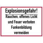 Explosionsgefahr! Rauchen offenes Licht und Feuer ..., Alu, 25x35 cm