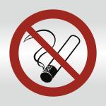Piktogramm Nichtraucher, Alu silber eloxiert, 148x148 mm