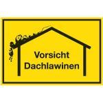 Winterschild, Vorsicht Dachlawinen, Alu, 40x60 cm