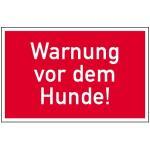 Warnung vor dem Hunde!, Kunststoff, 15x25 cm
