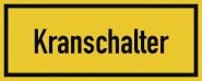 Kranschalter, Alu, 250x100 mm