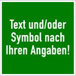 Rettungszeichen - Text und/oder Symbol nach Ihren Angaben, Alu, 200x200 mm