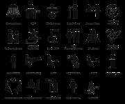 Individuelle Piktogrammschilder, Alu, eloxiert, 148x148 mm