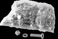 Befestigungsmaterial, Set 1x Schraube M6x25,Mutter M6,Scheibe 6,4mm, 100 Set/VE