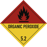 Gefahrzettel Klasse 5.2,Text ORGANIC PEROXIDE,Papier,100x100 mm,1000 Stück/Rolle